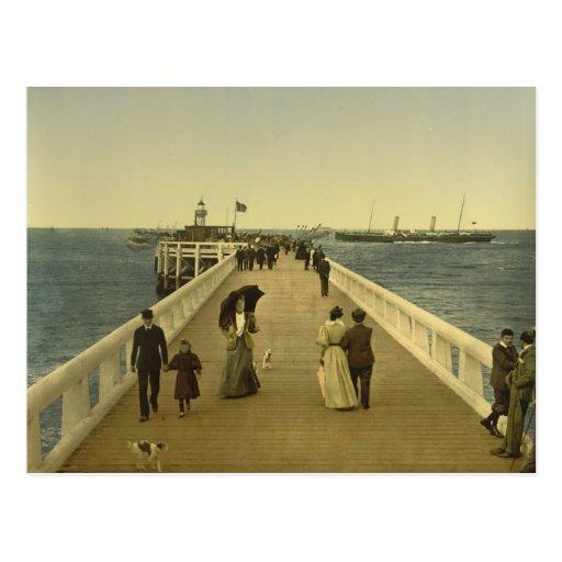 Pier at Ostend, West Flanders, Belgium Post Card