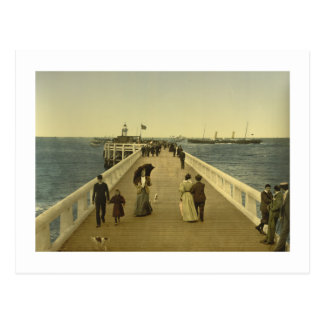 Pier at Ostend, West Flanders, Belgium Postcard