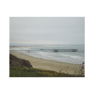 Pier at Pismo Beach, California Stretched Canvas Prints