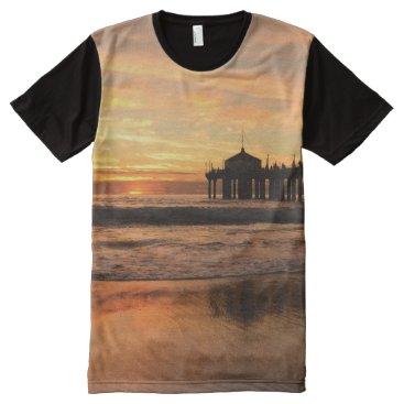Beach Themed Pier beach sunset All-Over-Print T-Shirt