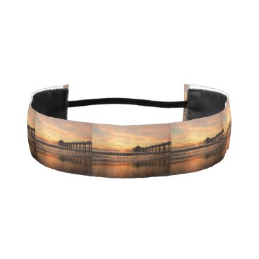 Beach Themed Pier beach sunset athletic headband