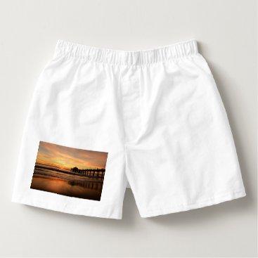Beach Themed Pier beach sunset boxers