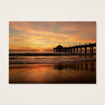 Beach Themed Pier beach sunset business card