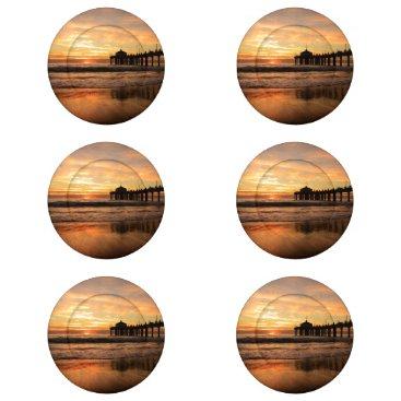 Beach Themed Pier beach sunset button covers