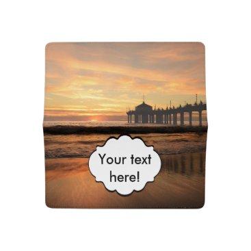 Beach Themed Pier beach sunset checkbook cover