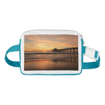 Beach Themed Pier beach sunset fanny pack