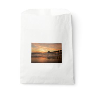 Beach Themed Pier beach sunset favor bag