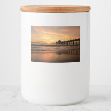 Beach Themed Pier beach sunset food label