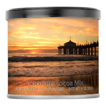 Beach Themed Pier beach sunset hot chocolate drink mix
