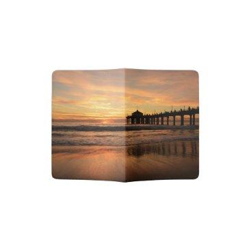 Beach Themed Pier beach sunset passport holder