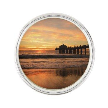 Beach Themed Pier beach sunset pin