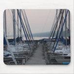 Pier Between Masts of Sailboats Mouse Pad