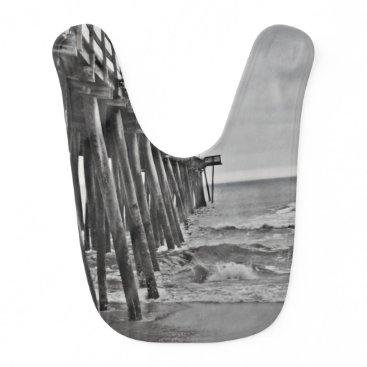 Beach Themed Pier by Shirley Taylor Baby Bib