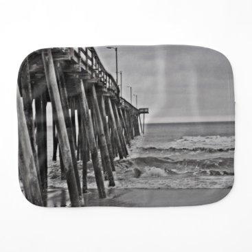 Beach Themed Pier by Shirley Taylor Burp Cloth