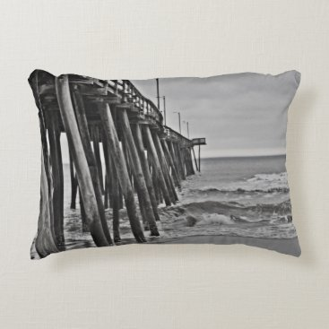 Beach Themed Pier by Shirley Taylor Decorative Pillow