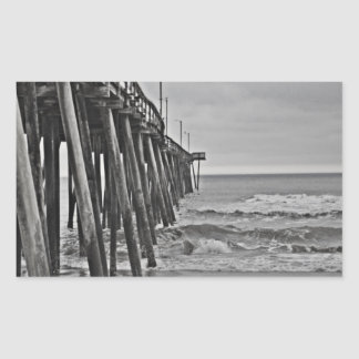 Pier by Shirley Taylor Rectangular Sticker