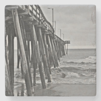 Pier by Shirley Taylor Stone Coaster