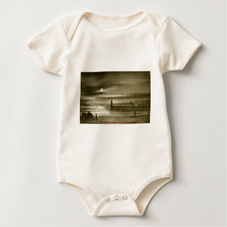Pier by the Moonlight, South Haven, Michigan Baby Bodysuit