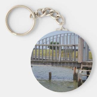Pier, Centerville, Cape Cod Basic Round Button Keychain