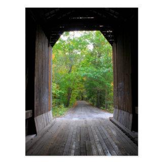 Pier Covered Railroad Bridge Newport NH Postcard