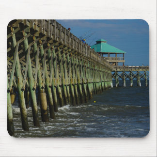 Pier Fishing Mouse Pad