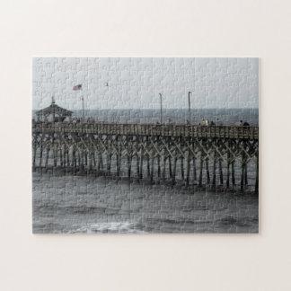 Pier Fishing - Oak Island, NC Jigsaw Puzzle