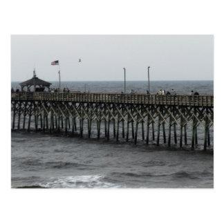 Pier Fishing - Oak Island, NC Postcard