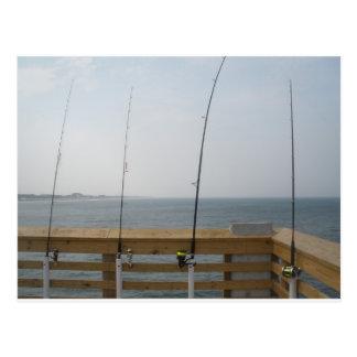 Pier Fishing Postcard