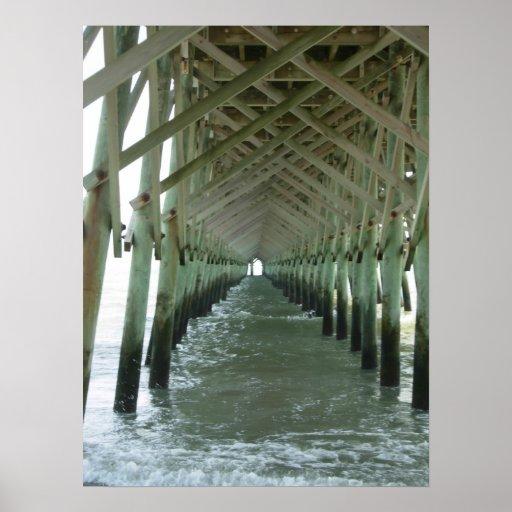 Pier Folly Beach, South Carolina Poster