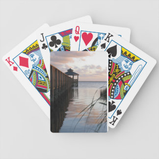 Pier & Gazebo at Sunset, Outer Banks NC Cards