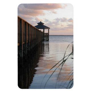 Pier & Gazebo at Sunset, Outer Banks NC Magnet