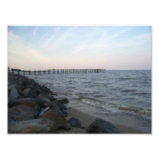 Pier in Colonial Beach, Virginia Photo Print