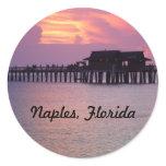 pier, naples, florida, sunset, bright, purple,