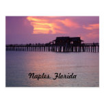 pier, naples, florida, sunset, bright, purple,
