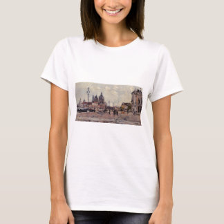 Pier in Venice by Eugene Boudin T-Shirt