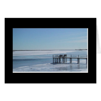 Pier in Winter Stationery Note Card