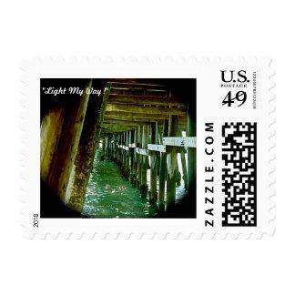 Pier Light Postage Stamp