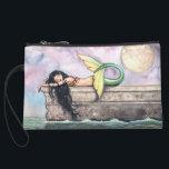 "Pier of Dreams Mermaid Mini Clutch Bag<br><div class=""desc"">&quot;Pier of Dreams&quot; &#169; Molly Harrison www.mollyharrisonart.com</div>"