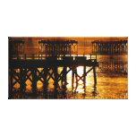 Pier Of The Pacific Northwest Docks Gallery Wrap Canvas