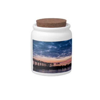 Pier on shore of the Baltic Sea Candy Jar