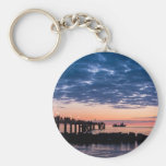 Pier on shore of the Baltic Sea Keychain