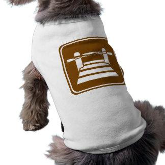 Pier or Dock Highway Sign Dog Shirt