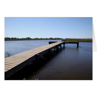 Pier, Salt Marsh, Nantucket Island Greeting Card
