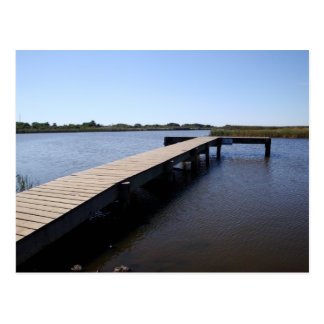 Pier, Salt Marsh, Nantucket Island Postcard