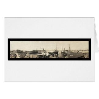 Pier Ship Panama Photo 1909 Card