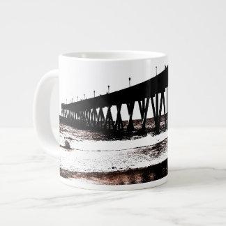 Pier Silhouette with Waves Mug Extra Large Mug