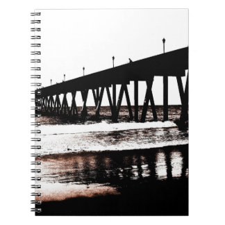 Pier Silhouette with Waves Notebook