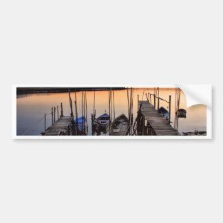 Pier stilt on the river bumper stickers