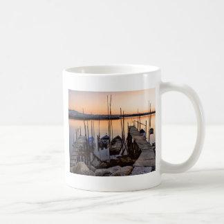 Pier stilt on the river coffee mug