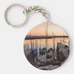 Pier stilt on the river keychains